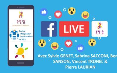 9ème Facebook Live avec le CHU de Nice 🏨 Essai REDUX, étude Resolve & l'Observatoire français de la FSHD 🏨 Vendredi 29 mai 2020