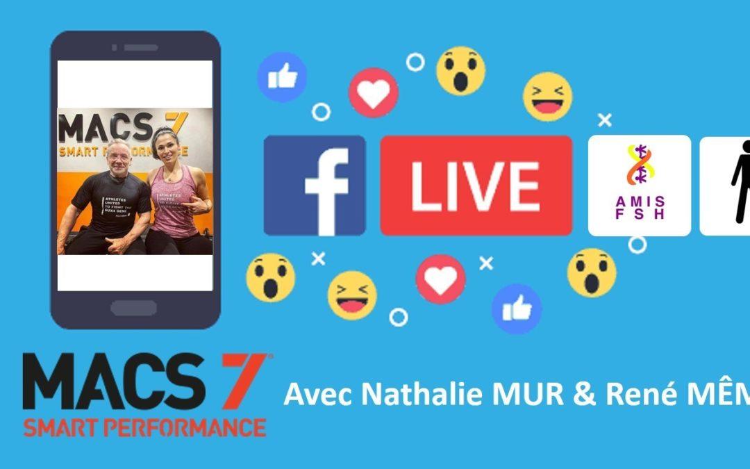 6ème Facebook Live avec Nathalie Mur & René Même 🚻 Sport adapté sous l'angle MACS7, Session posture Debout 🚻 Jeudi 14 mai 2020
