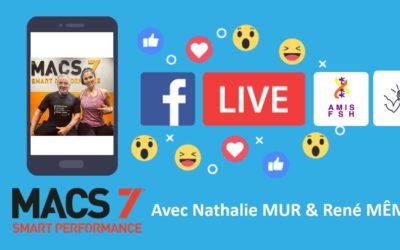 11ème Facebook Live avec Nathalie Mur & René Même 💪 Sport adapté sous l'angle Macs7, Session haut du corps 💪 Jeudi 11 juin 2020