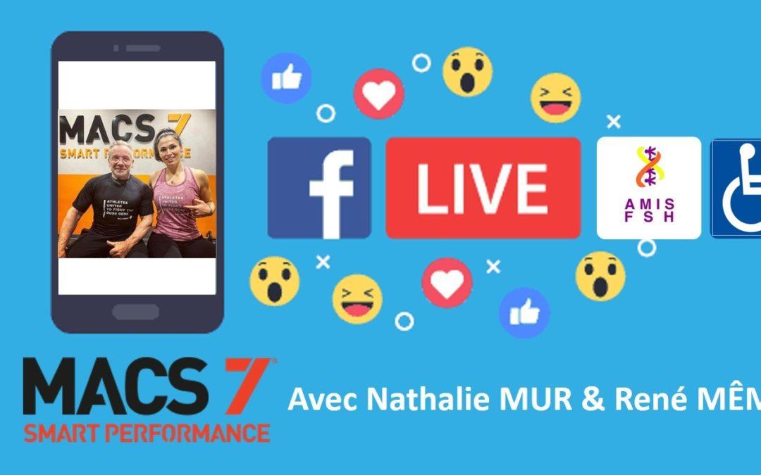 7ème Facebook Live avec Nathalie Mur & René Même ♿ Sport adapté sous l'angle MACS7, Session posture Assise♿ Vendredi 15 mai 2020